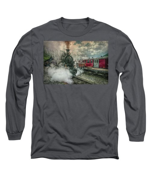 Long Sleeve T-Shirt featuring the photograph Steam Engine by Hanny Heim