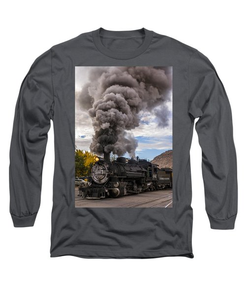 Long Sleeve T-Shirt featuring the photograph Steam Locomotive by Jerry Cahill