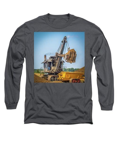 Steam Powered Shovel Long Sleeve T-Shirt