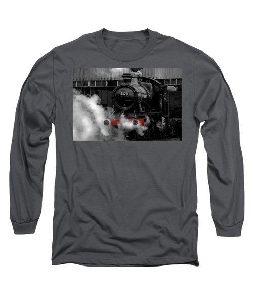 Steam Train Selective Colour Long Sleeve T-Shirt by Ken Brannen