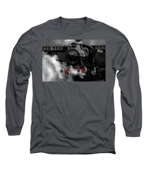 Steam Train Selective Colour Long Sleeve T-Shirt