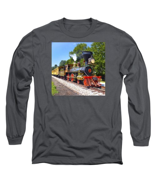Steaming Into History Long Sleeve T-Shirt by Paul W Faust -  Impressions of Light