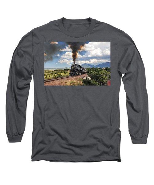 Steaming Towards La Veta Long Sleeve T-Shirt
