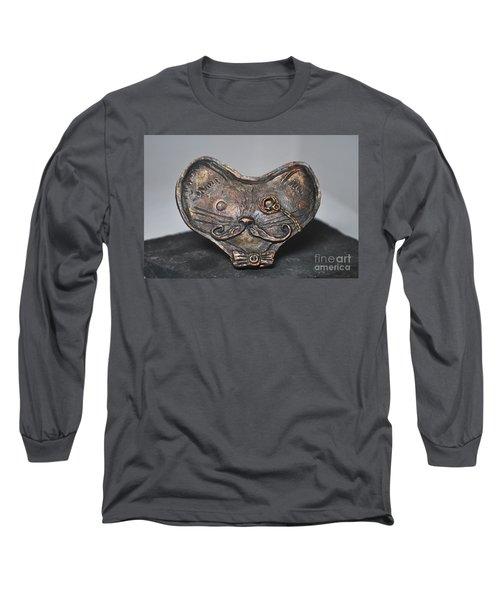 Steampunk Cat  Long Sleeve T-Shirt by Reina Resto