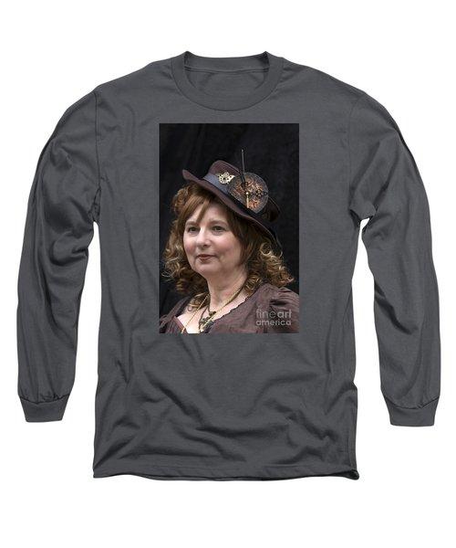 Steampunk Portrait Long Sleeve T-Shirt