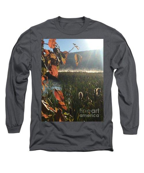 Steamy Lake Long Sleeve T-Shirt by Jason Nicholas