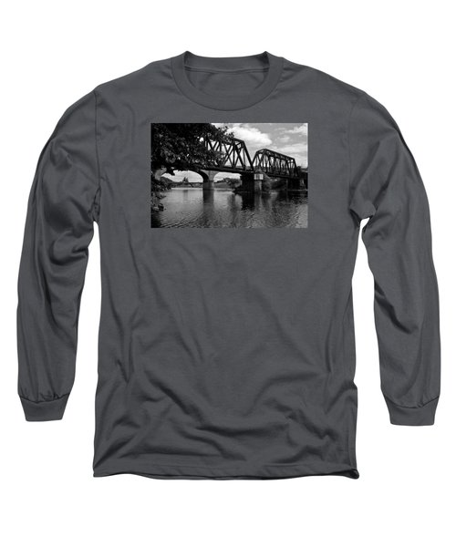 Long Sleeve T-Shirt featuring the photograph Steel City by Michael Dorn