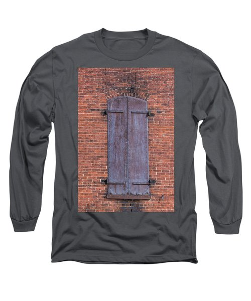 Long Sleeve T-Shirt featuring the photograph Steel Shutters by Paul Freidlund