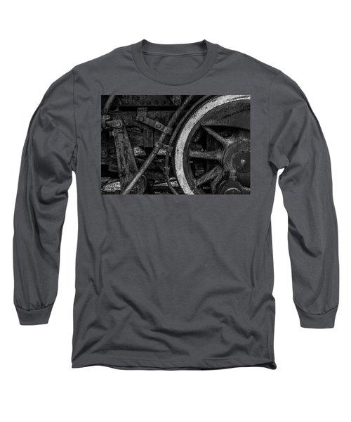 Steel Wheels In Monochrome Long Sleeve T-Shirt