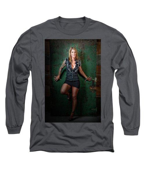 Stephanie Green Door Long Sleeve T-Shirt