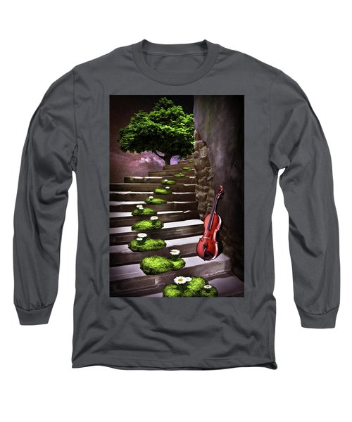 Steps Of Happiness Long Sleeve T-Shirt by Mihaela Pater