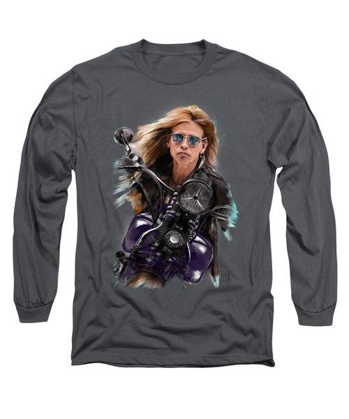 Steven Tyler On A Bike Long Sleeve T-Shirt