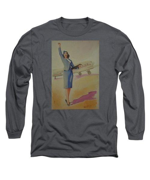 Stewardess And Dc3 Long Sleeve T-Shirt