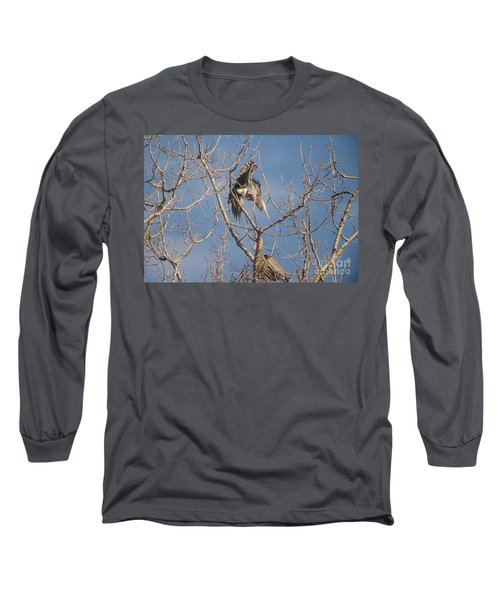 Long Sleeve T-Shirt featuring the photograph Stick Acceptance by David Bearden