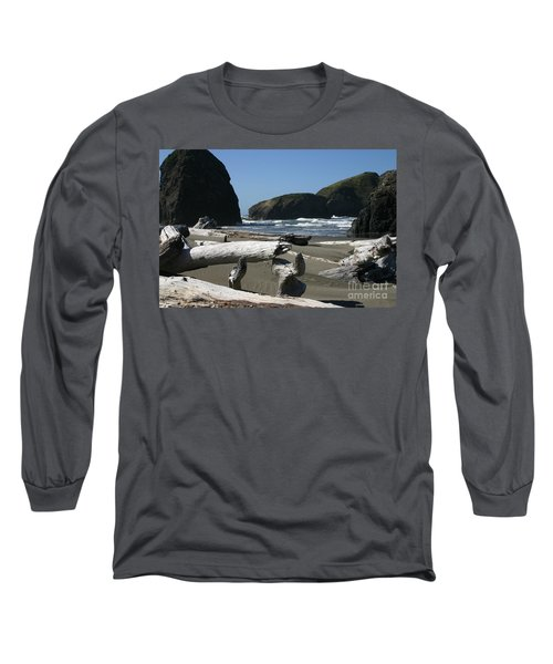 Sticks And Stones Long Sleeve T-Shirt by Marie Neder