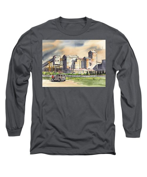 Long Sleeve T-Shirt featuring the painting Still In Business by Terry Banderas