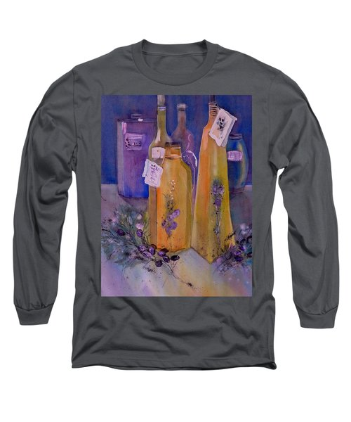 Still Life Olive Oil And Olive Twigs Long Sleeve T-Shirt