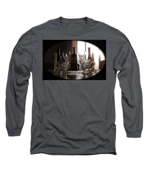 Long Sleeve T-Shirt featuring the photograph Still Life - The Crystal Elegance Experience by Shawn Dall