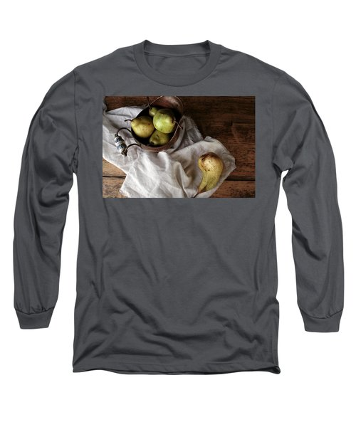 Still-life With Arrangement Of Pears  Long Sleeve T-Shirt