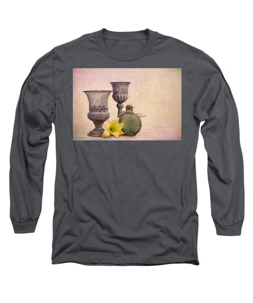 Long Sleeve T-Shirt featuring the photograph Still Life With Yellow Lily by Tom Mc Nemar