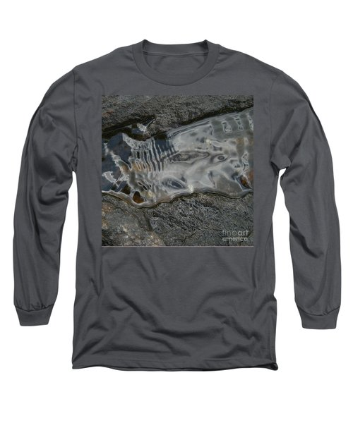 Still Stream Skeleton Screams Long Sleeve T-Shirt by Carol Lynn Coronios