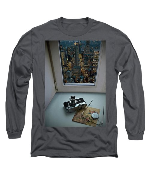 Stilllife With Leica Camera Long Sleeve T-Shirt