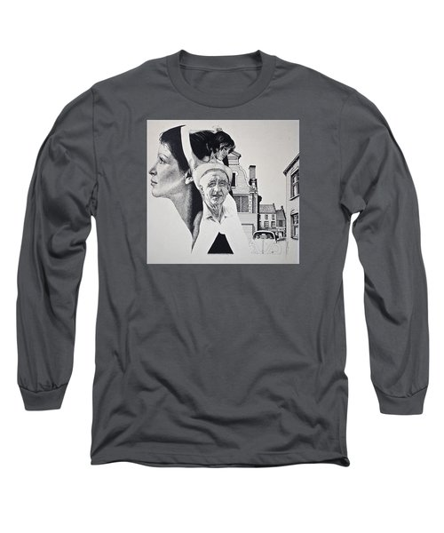 Stipple 2 --over The Hill Long Sleeve T-Shirt