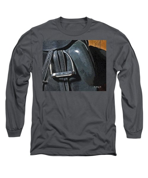 Long Sleeve T-Shirt featuring the painting Stirrup by Roena King