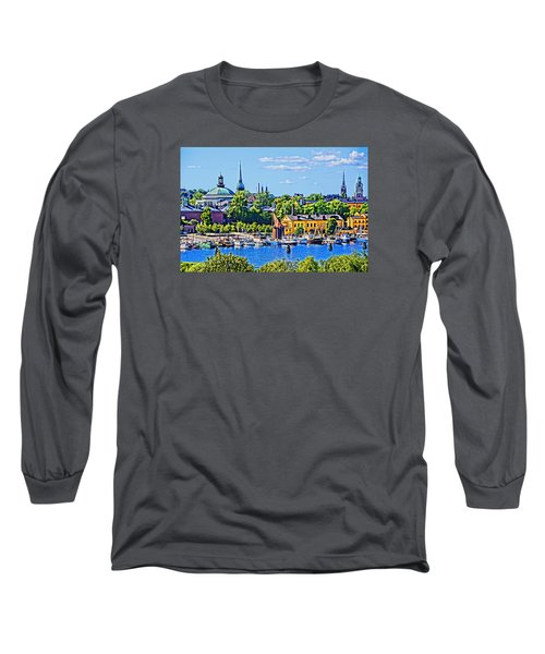 Long Sleeve T-Shirt featuring the photograph Stockholm Waterfront by Dennis Cox WorldViews
