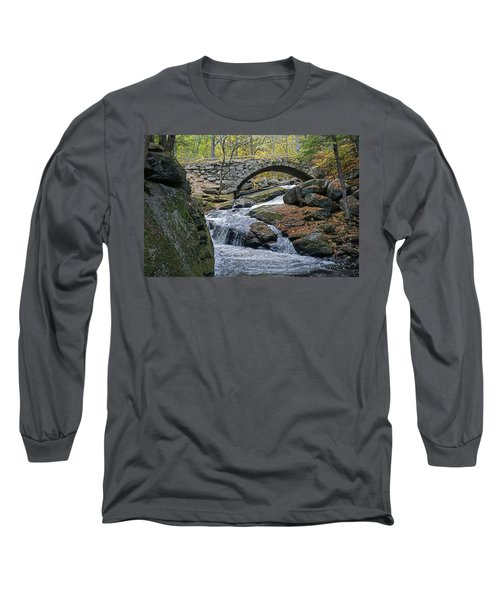 Stone Arch Bridge In Autumn Long Sleeve T-Shirt
