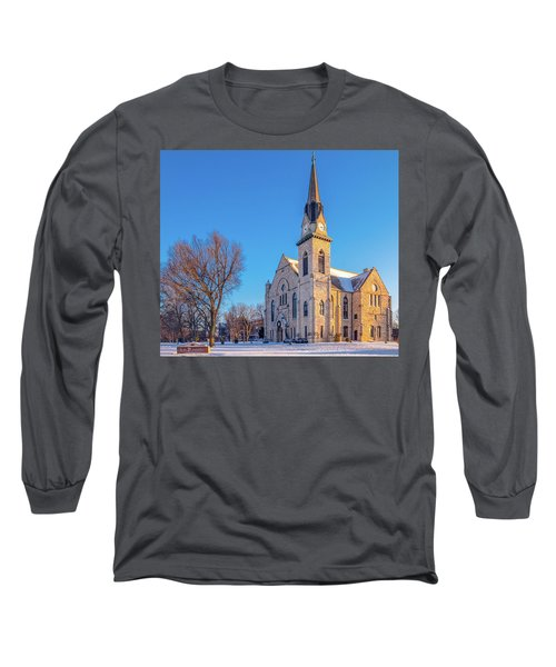 Stone Chapel In Winter Long Sleeve T-Shirt