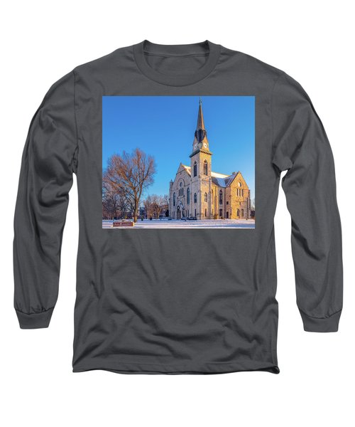 Stone Chapel In Winter Long Sleeve T-Shirt