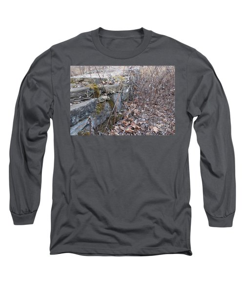 Stone Wall At Jackson Lock Long Sleeve T-Shirt