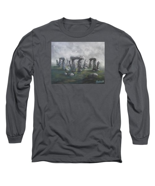 Long Sleeve T-Shirt featuring the painting Stones Of Time  by Megan Walsh