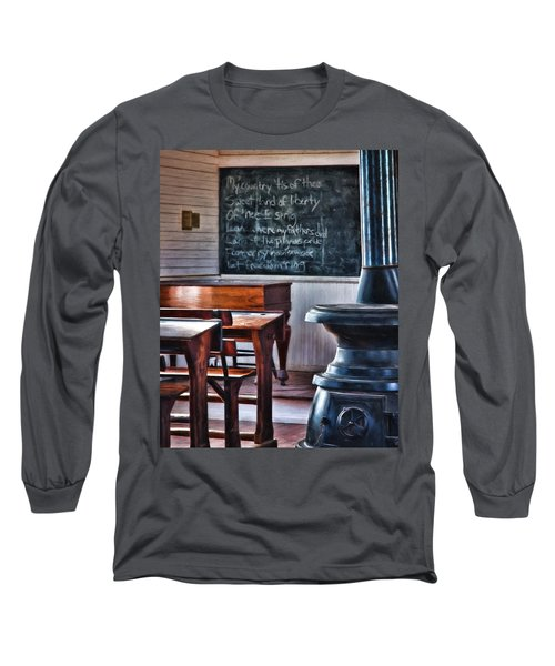 Stoney Point School Room Long Sleeve T-Shirt by Lana Trussell