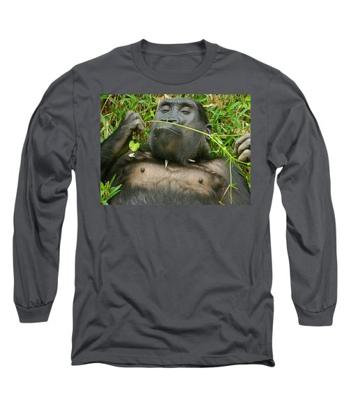 Stop And Smell The Grass Long Sleeve T-Shirt by Emmy Marie Vickers