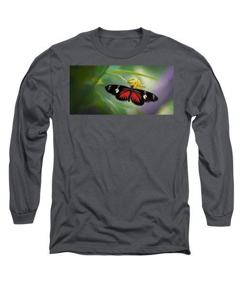 Butterfly, Stop And Smell The Flowers Long Sleeve T-Shirt