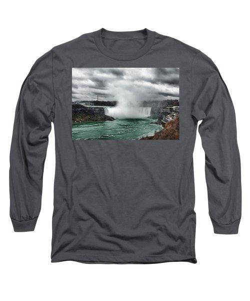 Storm At Niagara Long Sleeve T-Shirt