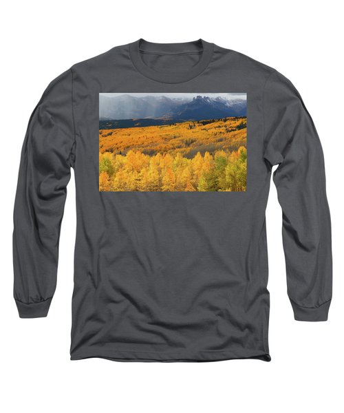 Storm At Ohio Pass During Autumn Long Sleeve T-Shirt by Jetson Nguyen