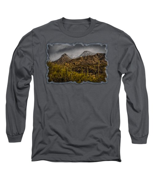 Storm Over Catalinas 15 Long Sleeve T-Shirt by Mark Myhaver