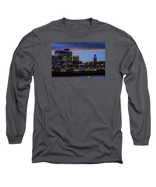 Storm Over Cleveland Long Sleeve T-Shirt