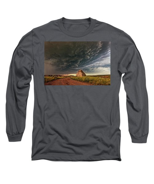 Storm Over Dinosaur Long Sleeve T-Shirt