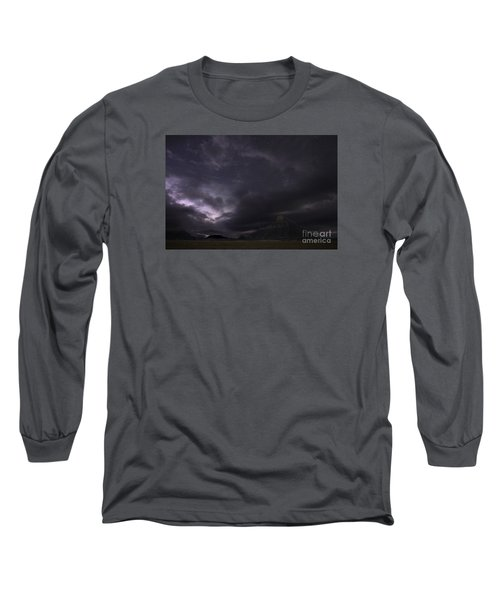 Long Sleeve T-Shirt featuring the photograph Storm Over Factory Butte by Keith Kapple