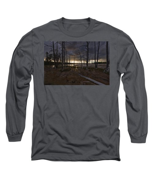 Storm Over Lower Geyser Basin Long Sleeve T-Shirt