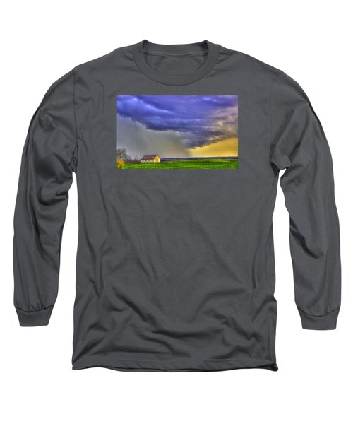 Storm Over River Long Sleeve T-Shirt