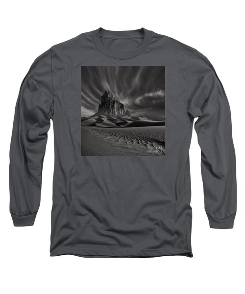 Storm Over Shiprock New Mexico Long Sleeve T-Shirt by Keith Kapple