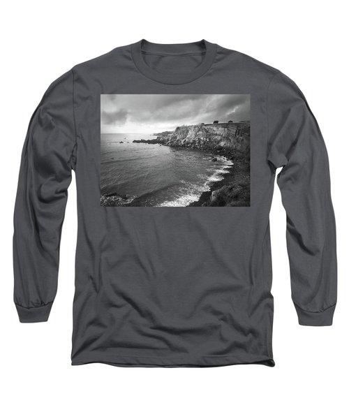 Storm Over The Eastern Shoreline Of Angra Do Heroismo Terceira Long Sleeve T-Shirt by Kelly Hazel