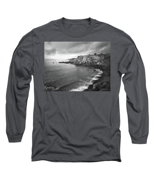 Storm Over The Eastern Shoreline Of Angra Do Heroismo Terceira Long Sleeve T-Shirt