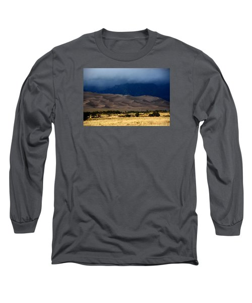 Storm Over The Great Dunes Colorado  Long Sleeve T-Shirt