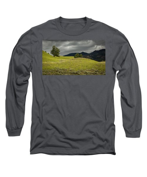 Stormy Fields Of Yellow Long Sleeve T-Shirt
